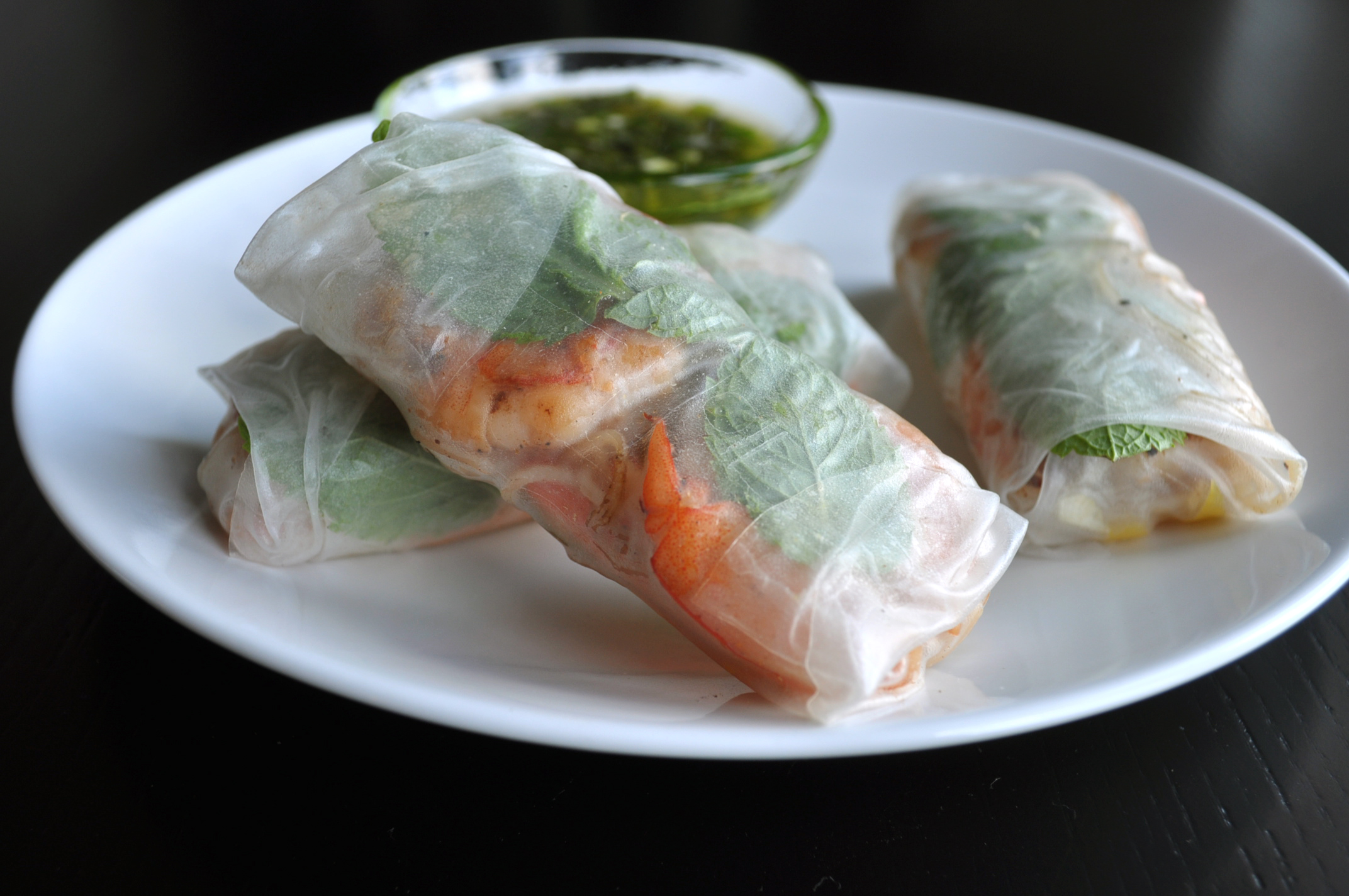 mint summer rolls shrimp and mint summer rolls shrimp and mint summer ...