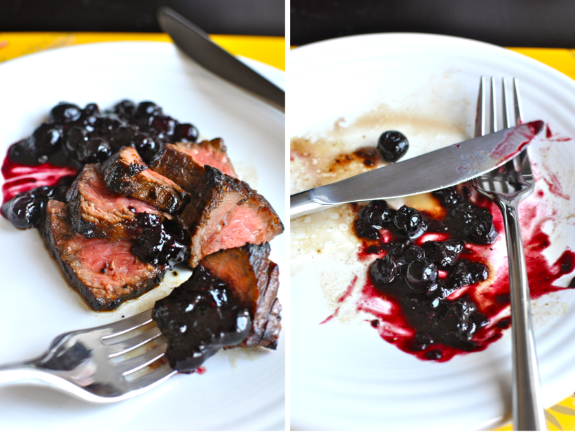 ... For Dessert: Balsamic Steak with Blueberry Port Jam - Spade Spatula